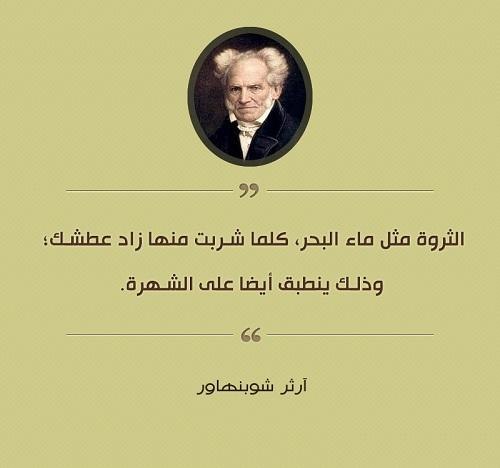 حكم واقوال آرثر شوبنهاور