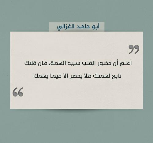 حكم واقوال أبو حامد الغزالي