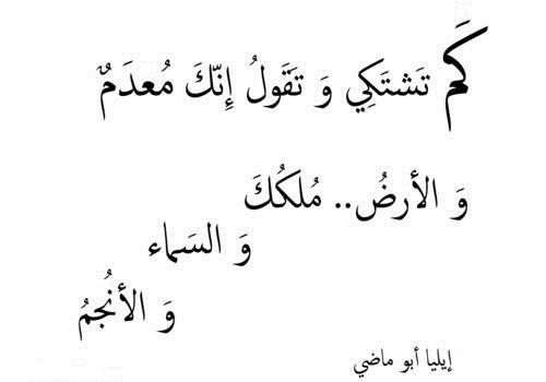 حكم واقوال إيليا أبو ماضي