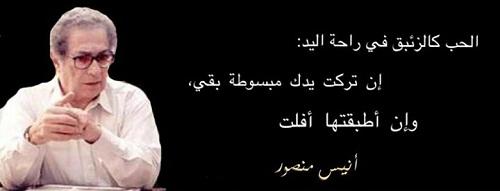 حكم واقوال انيس منصور مصورة