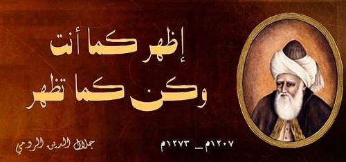 حكم واقوال جلال الدين الرومي مصورة