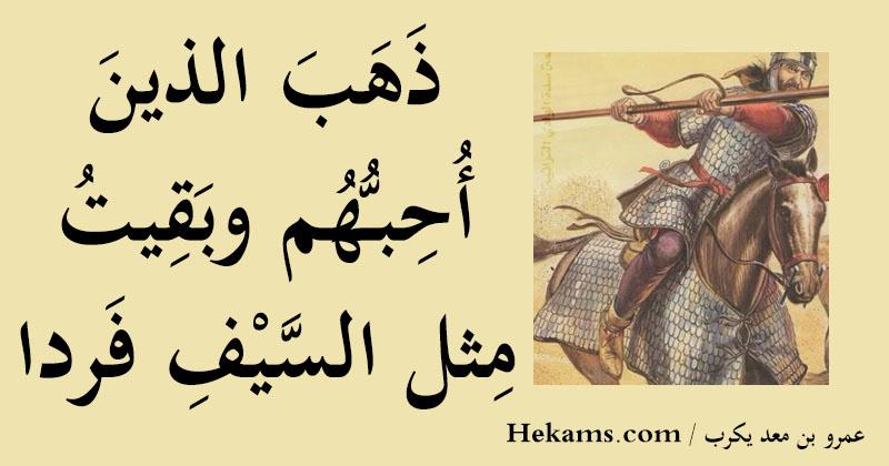 أقوال عمرو بن معد يكرب