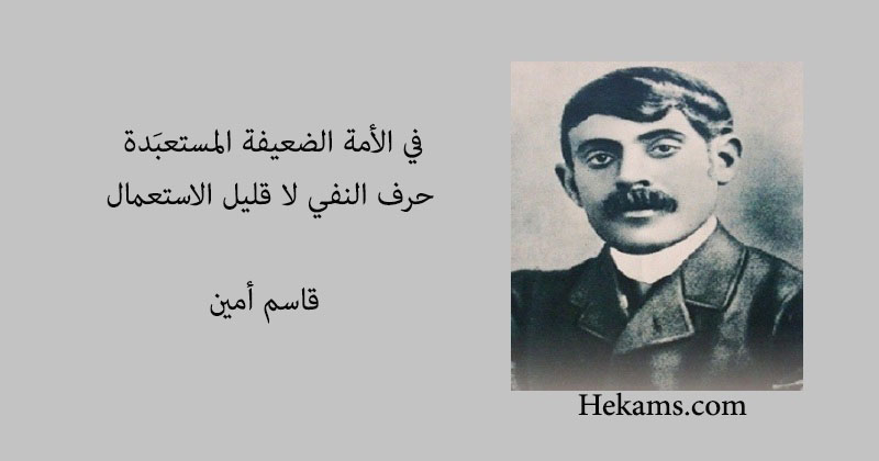 أقوال قاسم أمين