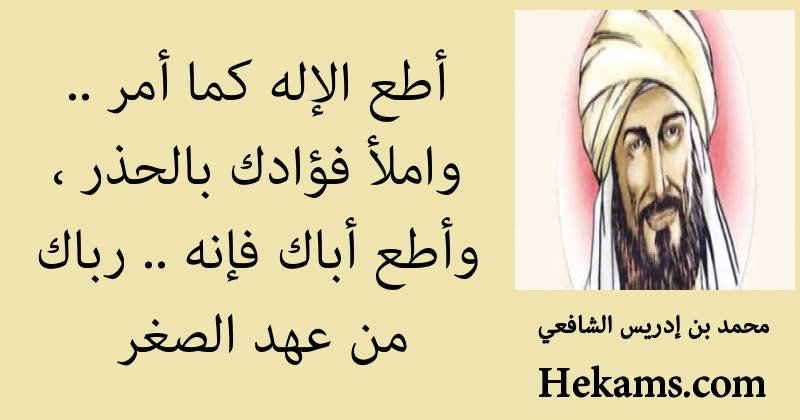 أقوال محمد بن إدريس الشافعي