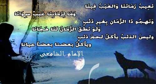 شعر محمد بن ادريس الشافعي نعيب زماننا والعيب فينا
