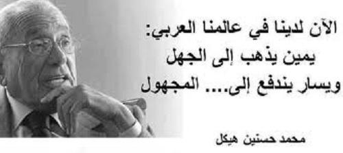 حكم واقوال محمد حسنين هيكل