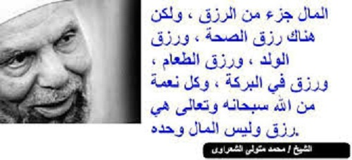 الرزق محمد متولي الشعراوي